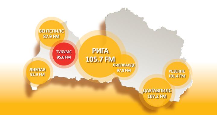 Radio SWH+ начало вещание в Тукумсе — на частоте 95,6 FM
